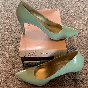 Mint colored heels
